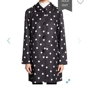 NWT Kate Spade New York Polka Dot Trench Coat SZ S